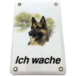 Warnschild - Ich wache - Deutscher Schäferhund