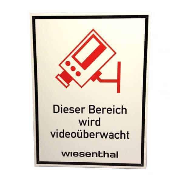 Hinweisschild Videoueberwachung