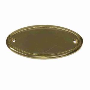 Tür- ,Messingschild oval