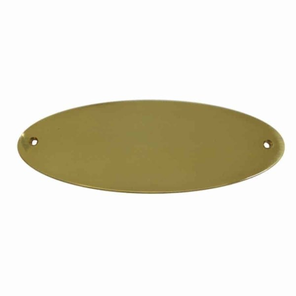 Türschild Oval aus Messing
