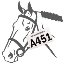 Pferdeplakette.Tirol .85x54