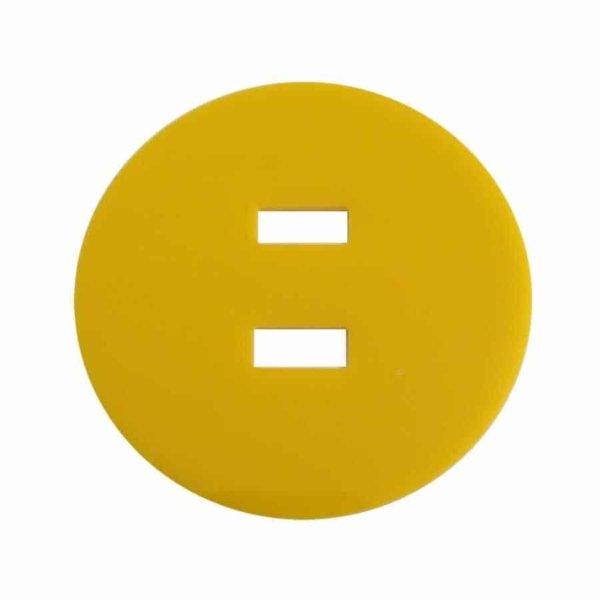 gelbe Pferdeplakette - Pferdekennzeichen