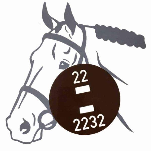 Pferdeplakette - Pferdekennzeichen lackiert mit Laserbeschriftung