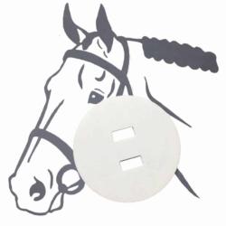 Pferdeplakette - Pferdekennzeichen natur