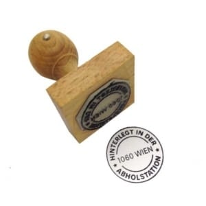 Holzstempel mit Wunschlogo