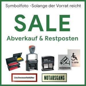 Abverkauf und Restposten - Stempel und Schilder Shop Lobenhofer