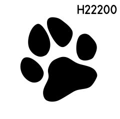 Motiv Hundepfote H22000