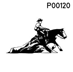 Motiv Pferd stoppend P00120