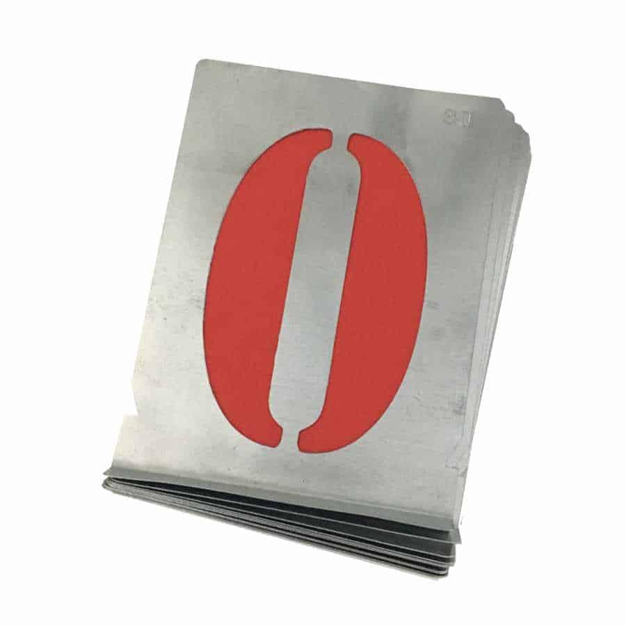 Signierschablone Zahlen 0-9 Antiqua