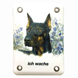 Emailschild Dobermann