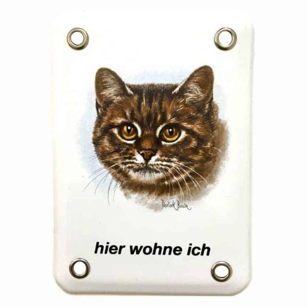 Emailschild - Hier wohne ich - Katze