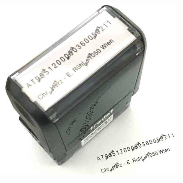 TRODAT Printy 4913 mit IBAN+BIC