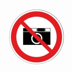 Verbotsaufkleber.Fotografieren verboten