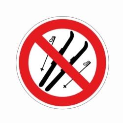 Verbotsaufkleber.Schi verboten