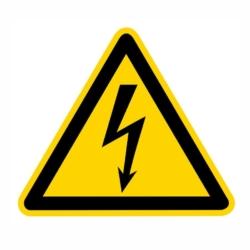 Warnaufkleber.Elektrischer Spannung