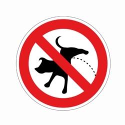 aufkleber.hunde pinkeln verboten.100x100