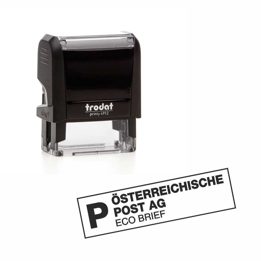 4912.Post .P.Eco Brief.Stempel